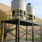 dual-cooling-tower-stand-with-ladder-and-guardrail